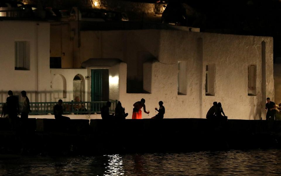 Mykonos was hit with a curfew and music ban in an attempt to slow the growth of Covid cases - Louiza Vradi/Reuters