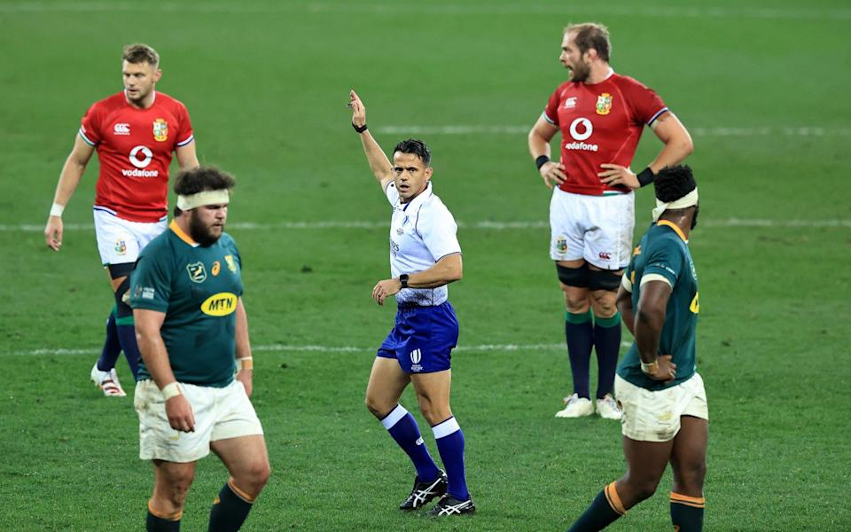 Referee Nic Berry was the target of Erasmus' video - GETTY IMAGES
