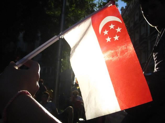During my time in Spain, it surprised me how proud I was of the Singapore flag. (Yahoo! photo/Jeanette Tan)