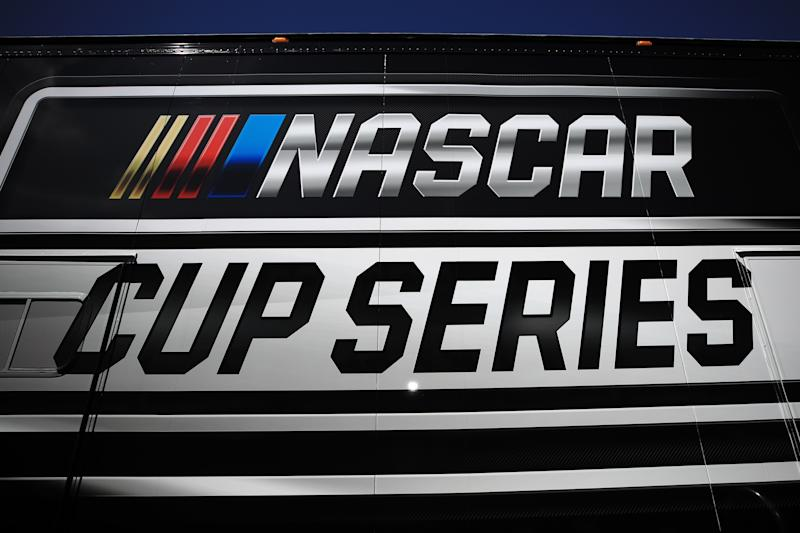 AVONDALE, ARIZONA - MARCH 06: A general view of the NASCAR Cup Series logo during practice for the NASCAR Cup Series FanShield 500 at Phoenix Raceway on March 06, 2020 in Avondale, Arizona. (Photo by Chris Graythen/Getty Images)