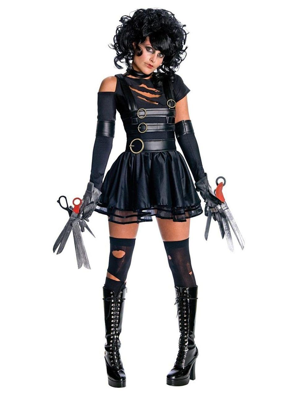 "<p><strong>Costume Supercenter</strong></p><p>costumesupercenter.com</p><p><strong>$5.99</strong></p><p><a href=""https://www.costumesupercenter.com/products/sexy-womens-miss-edward-scissorhands-costume"" rel=""nofollow noopener"" target=""_blank"" data-ylk=""slk:SHOP NOW"" class=""link rapid-noclick-resp"">SHOP NOW</a></p><p>These thigh-highs are a more accurate representation of how stockings would look if your fingers were made of sharp objects.</p>"