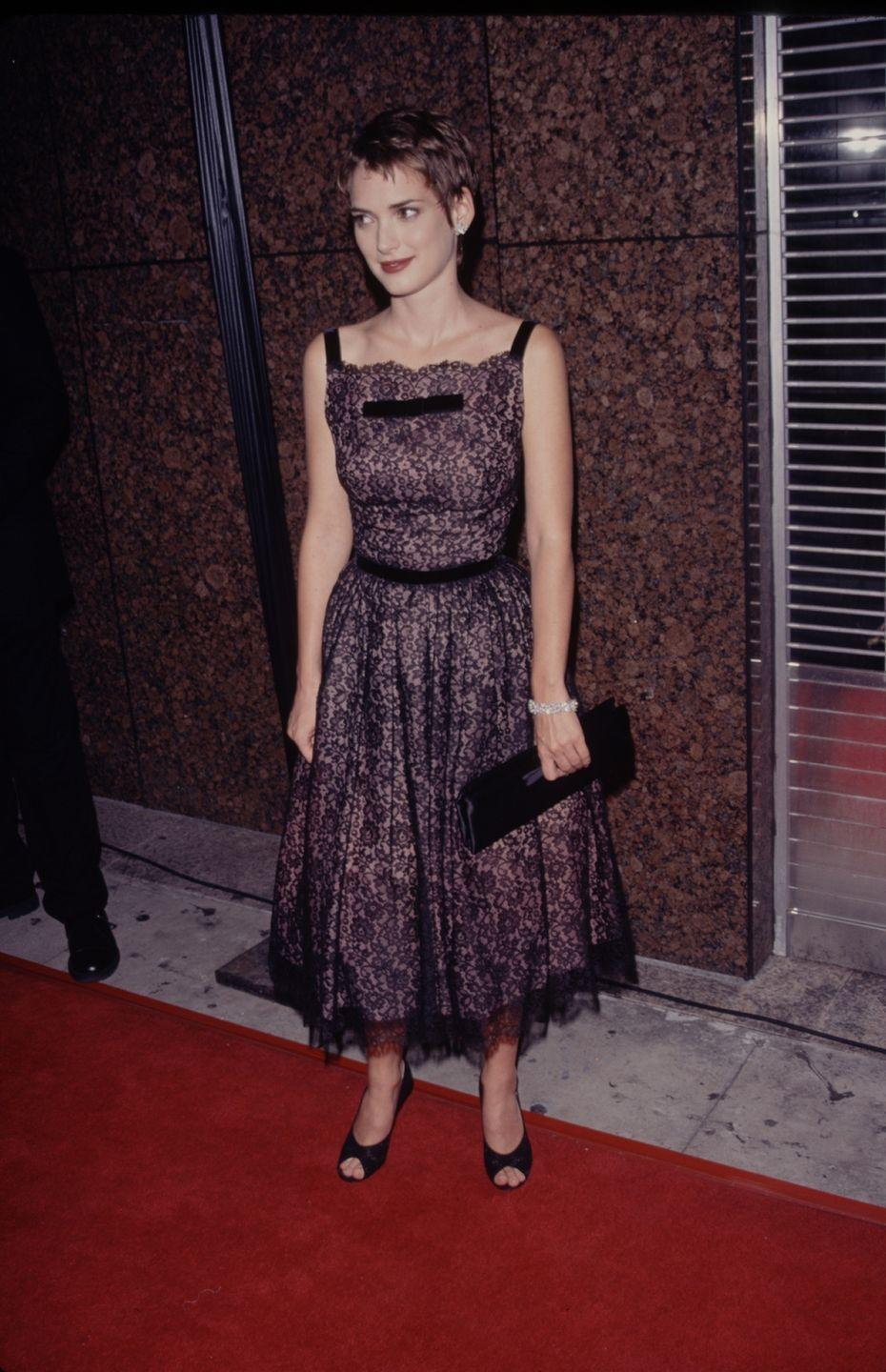 <p>Super elongated clutches were a style that encapsulated the '90s, and you'd often see them, like this black version, on the red carpet at award shows. </p>