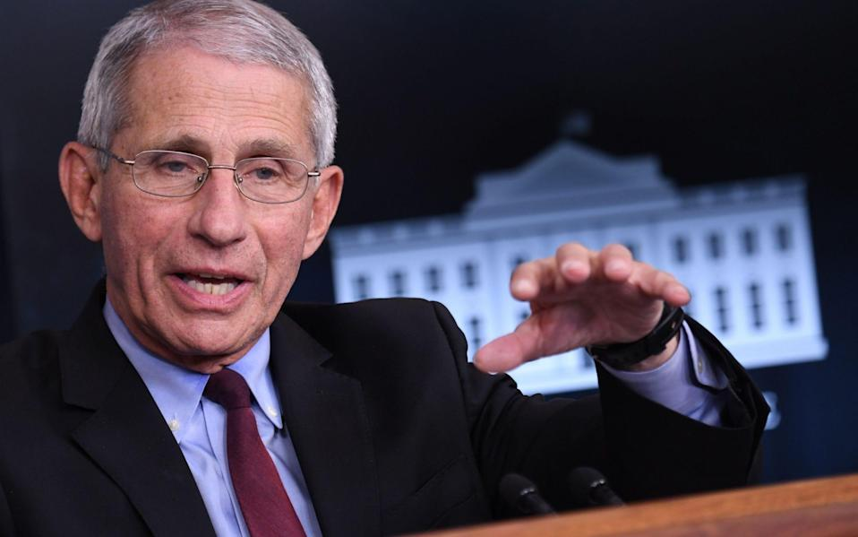 Dr Anthony Fauci has been leading the American response to the Covid-19 pandemic - Eric Baradat/AFP
