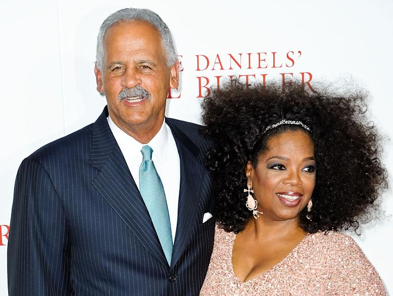 "NEW YORK, NY - AUGUST 05: Stedman Graham and Oprah Winfrey attend ""The Butler"" New York Premiere at Ziegfeld Theater on August 5, 2013 in New York City. (Photo by Daniel Zuchnik/FilmMagic)"