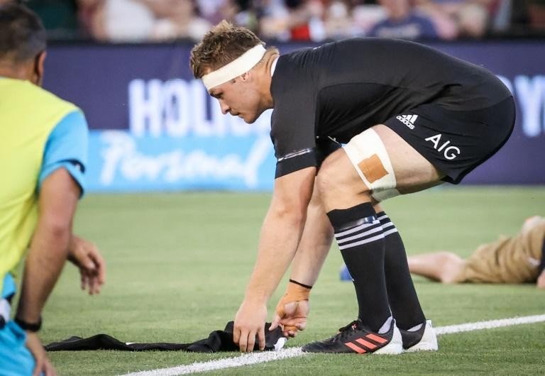 New Zealand captain Sam Cane laid down an All Blacks jersey with Diego Maradona's name and shirt number, 10, in tribute to the late football icon