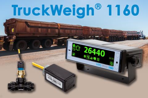 VPG Onboard Weighing's New TruckWeigh® 1160 On-Board Overload Monitoring System Enables Unlimited Axels in Road Trains