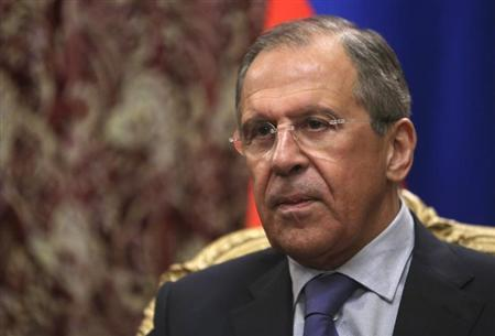 Russian Foreign Minister Sergei Lavrov attends a meeting with his Cypriot counterpart Ioannis Kasoulides in Moscow March 28, 2014. REUTERS/Sergei Karpukhin