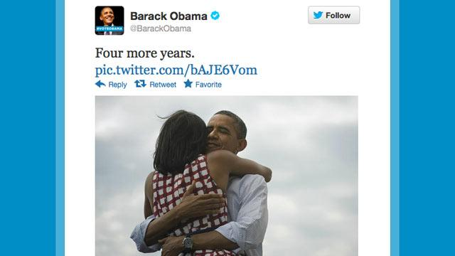 Obama Tweets 'Four More Years'