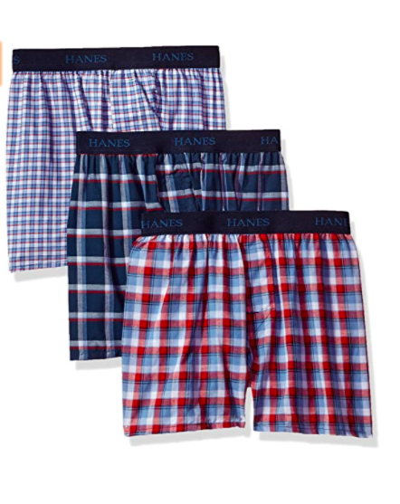 Hanes Big Boys' ultimate comfortsoft plaid boxers (3 Pack), S$14.06. PHOTO: Amazon