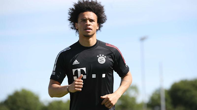Sane 'overjoyed' as he trains with Bayern Munich for first time