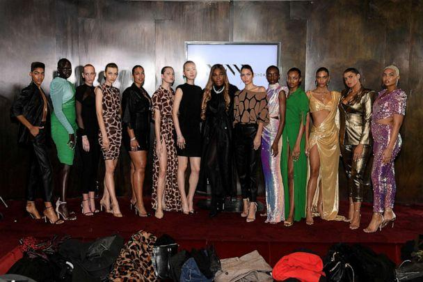 PHOTO: Designer Serena Williams poses with models for the S By Serena Presentation during New York Fashion Week: The Shows at Spring Place, Feb. 12, 2020 in New York. (Dia Dipasupil/Getty Images)
