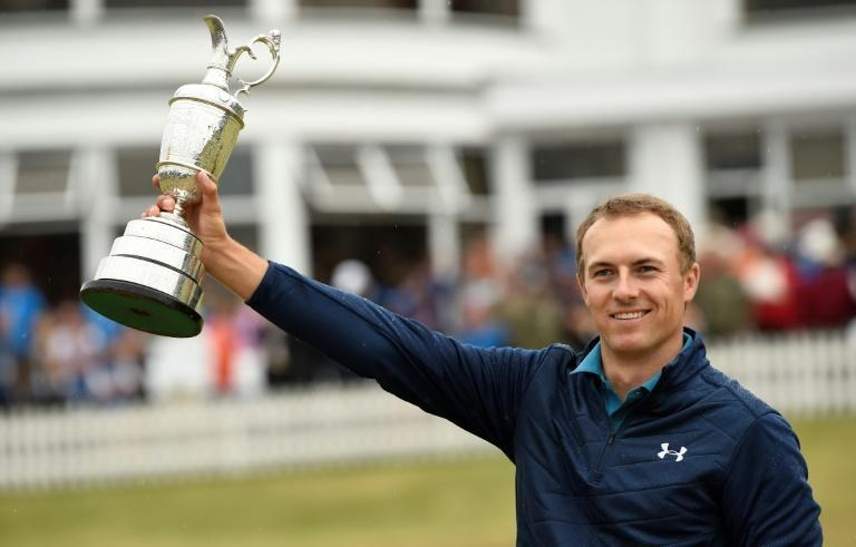Jordan Spieth's last tournament win came at the Open Championship at Birkdale in 2017 (AFP Photo/Andy BUCHANAN)