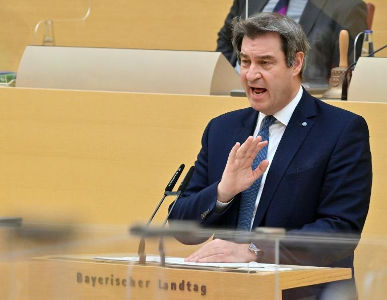 """CSU leader and Bavarian premier Markus Soeder called the result a """"wake-up call"""" for the conservative alliance"""