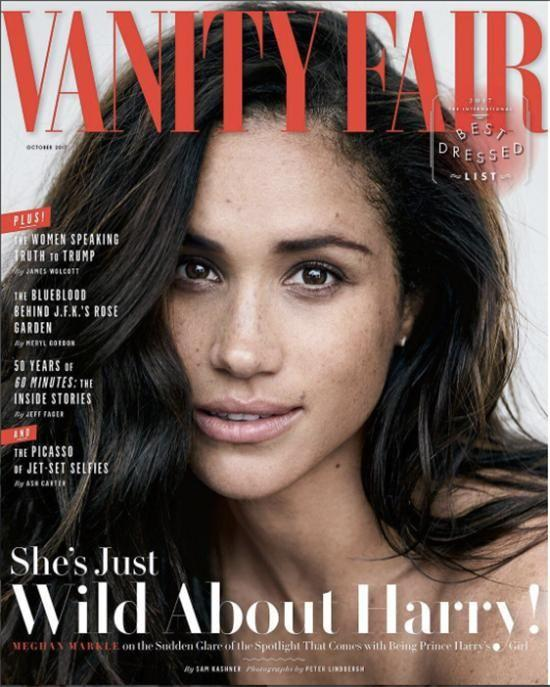 Meghan Markle has opened up for the first time about her 'love ' for Prince Harry. Photo:Peter Lindbergh/Vanity Fair