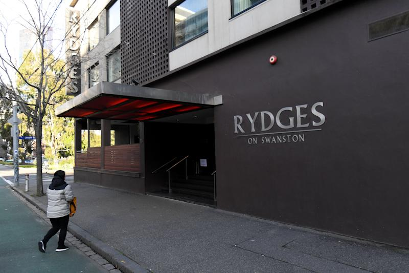 The exterior Rydges on Swanston hotel in Melbourne.