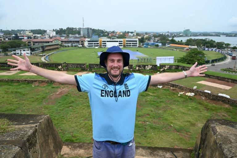 The group of English fans in Chennai were inspired by Rob Lewis, 37, who waited 10 months in Sri Lanka for a postponed tour to restart