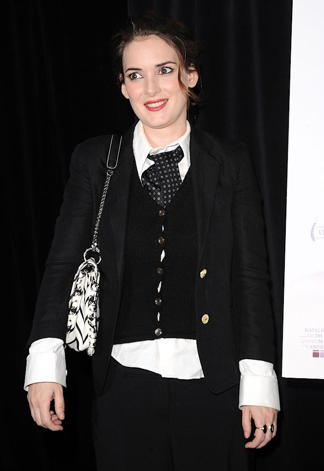 "October 29: Winona Ryder turns 39 Jason Merritt/<a href=""http://www.gettyimages.com/"" target=""new"">GettyImages.com</a> - September 14, 2010"