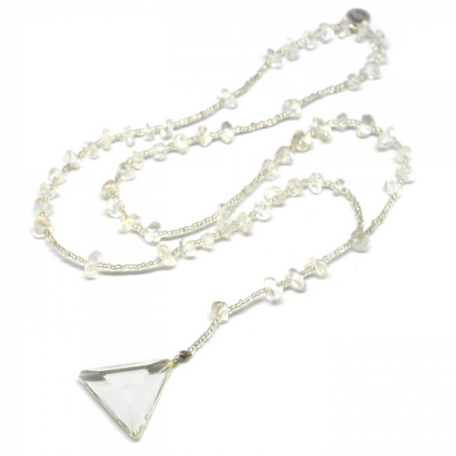 """<p>Hand-delivered from the John of God spiritual healing center in Brazil, this crystal quartz accessory is believed to protect, heal, and emit positive energy. $105, <a rel=""""nofollow"""" href=""""https://www.energymuse.com/sacred-quartz-crystal-necklace.html"""">energymuse.com</a> (Photo: Energy Muse) </p>"""