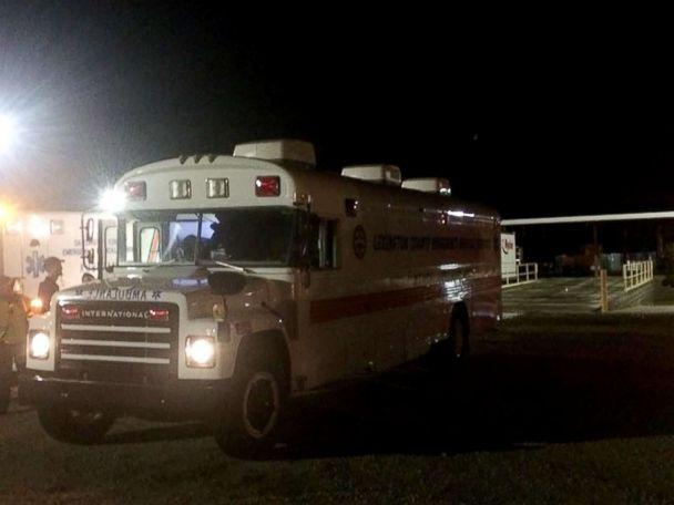 PHOTO: An ambulance responds to Lee Correctional Institution in this photo posted to Facebook by Lee Fire Department Public Information Officer. (Lee Fire Dept. PIO/Facebook)