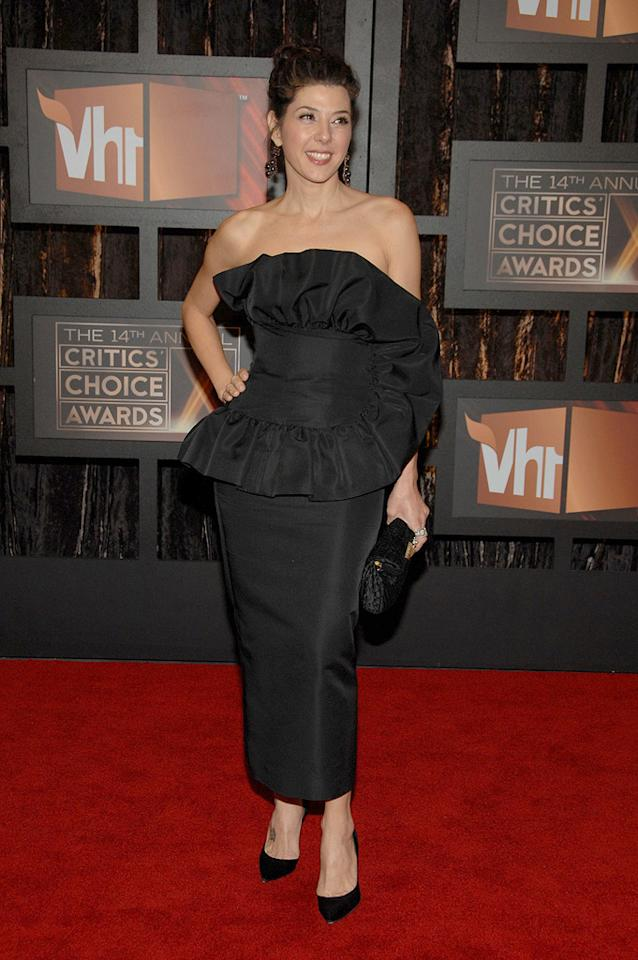 """<a href=""""http://movies.yahoo.com/movie/contributor/1800024659"""">Marisa Tomei</a> at the 14th Annual Critics' Choice Awards in Santa Monica - 01/08/2009"""