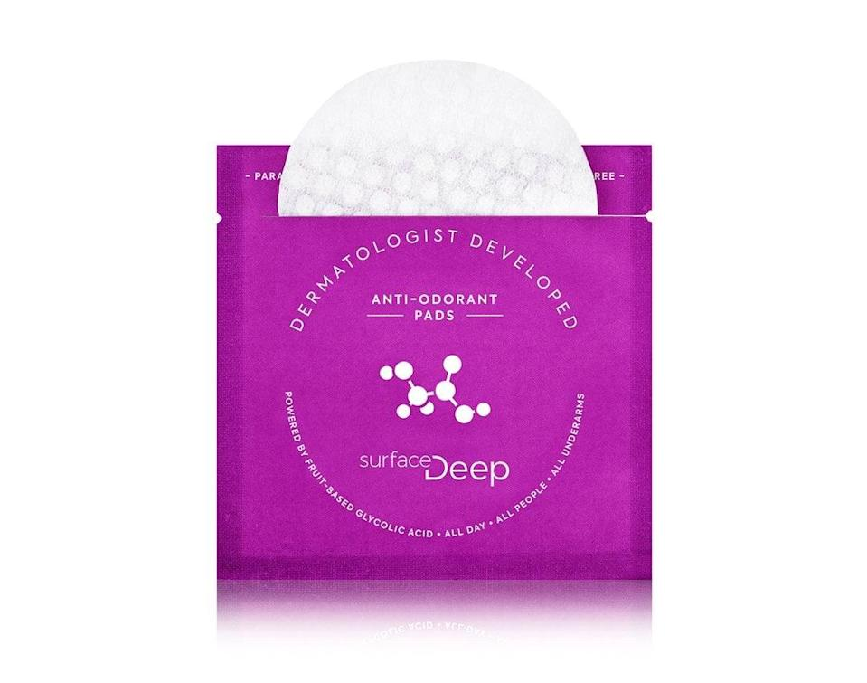 "<p>Surface Deep Dermatologist Developed Anti-Odorant Pads<br> ""I've been looking to swap out my OG deodorant for a hot minute, but couldn't fully devote myself to the natural deodorant life. When I got a hold of these <a href=""https://www.popsugar.com/buy/Surface-Deep-Dermatologist-Developed-Anti-Odorant-Pads-578711?p_name=Surface%20Deep%20Dermatologist%20Developed%20Anti-Odorant%20Pads&retailer=surfacedeep.com&pid=578711&price=26&evar1=bella%3Aus&evar9=47519595&evar98=https%3A%2F%2Fwww.popsugar.com%2Fbeauty%2Fphoto-gallery%2F47519595%2Fimage%2F47519656%2FSurface-Deep-Dermatologist-Developed-Anti-Odorant-Pads&list1=must%20haves%2Ceditors%20pick%2Cskin%20care&prop13=mobile&pdata=1"" class=""link rapid-noclick-resp"" rel=""nofollow noopener"" target=""_blank"" data-ylk=""slk:Surface Deep Dermatologist Developed Anti-Odorant Pads"">Surface Deep Dermatologist Developed Anti-Odorant Pads</a> ($26), though, I was intrigued. The biodegradable pads are powered by a fruit-based glycolic acid formula that removes odor-causing bacteria and trapped sebum from the skin's surface. I've been using these pads for two months now and am seriously impressed. While they don't block sweat, they've kept all signs of odor at bay. The best part? The skin in my underarm feels truly clean, balanced and calmed - I haven't picked up my deodorant once."" - Samantha Holender, assistant beauty editor, Makeup.com and Skincare.com</p>"