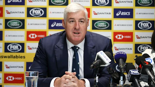 Cameron Clyne stated he wants the focus to return to matters on the pitch after confirming he will stand down as Rugby Australia chairman.