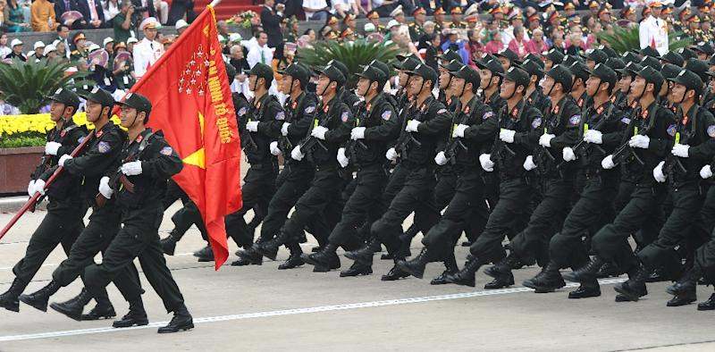 All in a row: Vietnam's military arsenal is largely supplied by longtime ally Russia