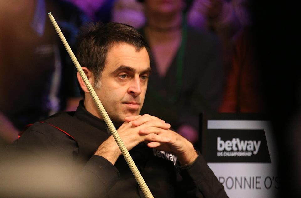 Ronnie O'Sullivan during day nine of the Betway UK Championship at the York Barbican. (Photo by Nigel French/PA Images via Getty Images)