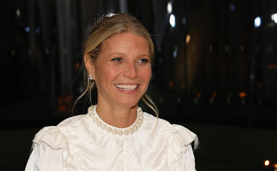 The newlywed spoke about her lifestyle brand, Goop, on the radio this morning [Photo: Getty]