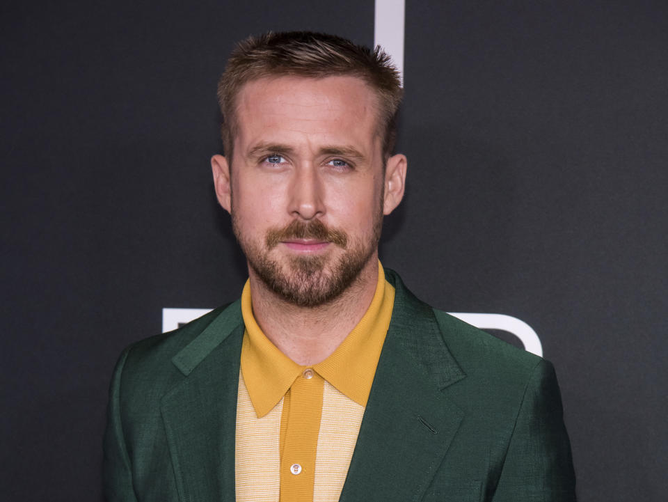 "Ryan Gosling attends the ""First Man"" premiere at the National Air and Space Museum of the Smithsonian Institution on Thursday, October 4, 2018, in Washington. (Photo by Charles Sykes/Invision/AP)"