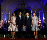 <p>Pretty enough to party! Michelle Obama trotted out her flirtiest piece to dance the tango with a professional. She shimmied and shined! <i>Photo: Reuters </i></p>