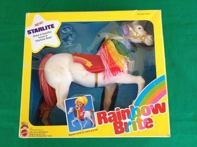 """<p>We still remember the theme song from this animated TV series about Rainbow Brite and her sidekicks the Color Kids, who were in charge of preserving all the color in the world. These days, <a href=""""http://www.ebay.com/sch/i.html?_from=R40&_sacat=0&_nkw=rainbow+brite&_sop=16"""" rel=""""nofollow noopener"""" target=""""_blank"""" data-ylk=""""slk:original Rainbow Brite and Color Kids dolls"""" class=""""link rapid-noclick-resp"""">original Rainbow Brite and Color Kids dolls</a> can sell for around $1,000.</p>"""