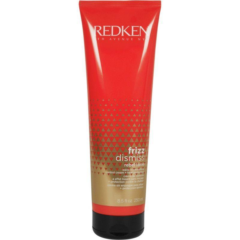 """<p><strong>Redken</strong></p><p>ulta.com</p><p><strong>$25.00</strong></p><p><a href=""""https://go.redirectingat.com?id=74968X1596630&url=https%3A%2F%2Fwww.ulta.com%2Ffrizz-dismiss-rebel-tame-heat-protective-leave-in-cream%3FproductId%3Dpimprod2003330&sref=https%3A%2F%2Fwww.goodhousekeeping.com%2Fbeauty-products%2Fg34620919%2Fbest-heat-protectant-for-hair%2F"""" rel=""""nofollow noopener"""" target=""""_blank"""" data-ylk=""""slk:Shop Now"""" class=""""link rapid-noclick-resp"""">Shop Now</a></p><p>Hydrating, frizz taming, and blow dry accelerating, Redken's Frizz Dismiss is an all-in-one formula especially great for straightening hair. <strong>""""It helps makes my super <a href=""""https://www.goodhousekeeping.com/beauty/hair/a35733/how-to-get-thicker-hair/"""" rel=""""nofollow noopener"""" target=""""_blank"""" data-ylk=""""slk:thick hair"""" class=""""link rapid-noclick-resp"""">thick hair </a>feel manageable, seals in smoothness, and cuts my blow dry time,""""</strong> Berohn says.</p>"""