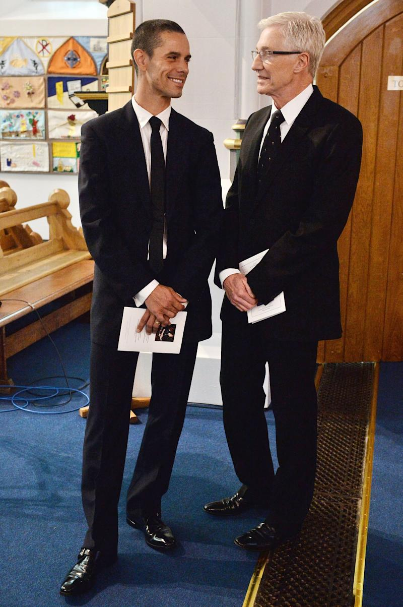 <strong>Paul O'Grady (right) with his new husband Andre Portasio</strong>