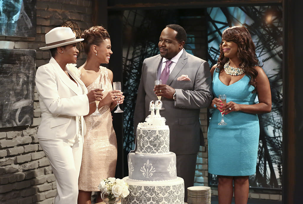 Ep. 208 - Airs 7/31)Drew and Gina celebrate their marriage with Boyce and Lolli. ?The Soul Man? Wednesdays at 11:00 PM ET/PT on TV Land. Photo courtesy of TV Land.