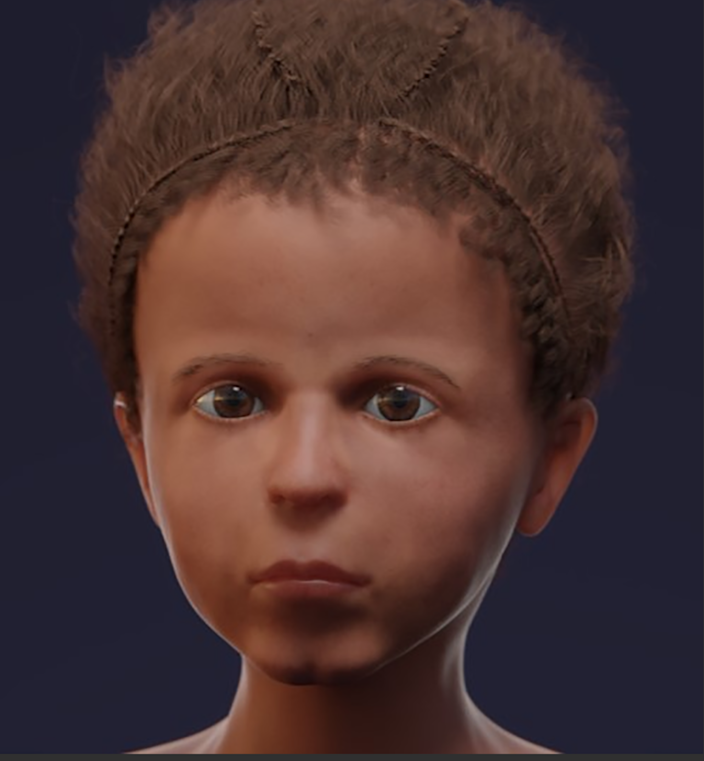 The boy's face, recreated from a CT scan (PLoS One)