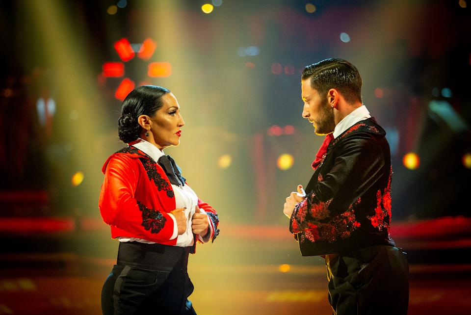 Michelle Visage and Giovanni Pernice both have fiery spirits (Credit: BBC)