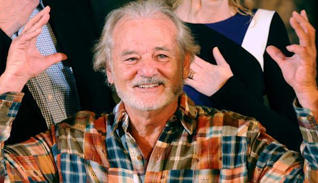 """<b class=""""credit"""">Getty Images</b>Bill Murray at a photo call for the upcoming film 'The Monuments Men' in Beverly Hills, California."""