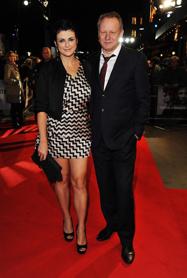 """Stellan Skarsgard at the London premiere of <a href=""""http://movies.yahoo.com/movie/1810163569/info"""">The Girl With the Dragon Tattoo</a> on December 12, 2011."""