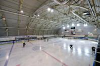 A modern ice skating rink built in the Romanian city of Carta with money from the Hungarian government