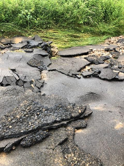 The road, after the flood. (Supplied)