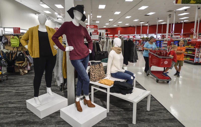 ORANGE, CA - NOVEMBER 17: An increasing number of mannequins wear clothing and shoes throughout the remodeled Target store in Orange, California, Friday 17. November 2017. (Photo by Jeff Gritchen / Digital First Media / Orange County Register via Getty Images)