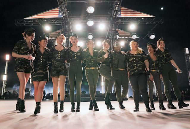 The Bellas take a bow in <em>Pitch Perfect 3.</em>(Photo: Quantrell D. Colbert/Universal Pictures/courtesy Everett Collection)