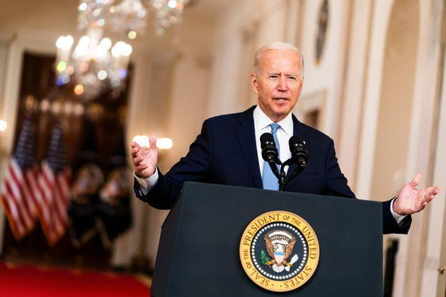Biden went along with the Taliban's demand to remove all US troops by August 31 (Photo: The Washington Post via Getty Images)