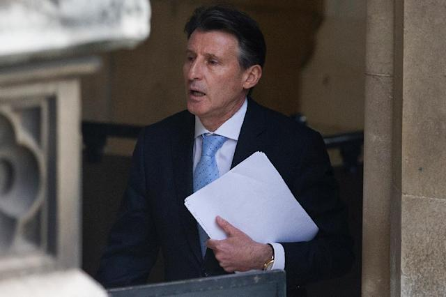 """IAAF president Sebastian Coe, pictured on December 2, 2015, said, """"I am president of an international federation which is under serious investigations and I represent a sport under intense scrutiny"""" (AFP Photo/Justin Tallis)"""