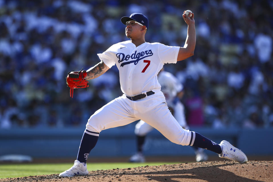 Julio Urias。(Photo by Meg Oliphant/Getty Images)
