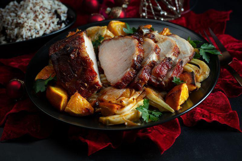 "<p>Pork loin roast rubbed with orange zest, brown sugar, paprika and anise has a hearty flavor that's perfect for winter.</p> <p><a href=""https://www.thedailymeal.com/recipe/orange-anise-brown-sugar-pork-roast?referrer=yahoo&category=beauty_food&include_utm=1&utm_medium=referral&utm_source=yahoo&utm_campaign=feed"" rel=""nofollow noopener"" target=""_blank"" data-ylk=""slk:For the Orange, Anise and Brown Sugar Rubbed Roast Pork recipe, click here."" class=""link rapid-noclick-resp"">For the Orange, Anise and Brown Sugar Rubbed Roast Pork recipe, click here.</a></p>"