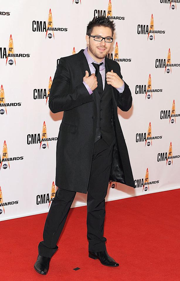 """Danny Gokey  Grade: A-  The dapper """"American Idol"""" alum was looking mighty fine in a three-piece suit and his signature spectacles. Frederick Breedon/<a href=""""http://www.gettyimages.com/"""" target=""""new"""">GettyImages.com</a> - November 11, 2009"""