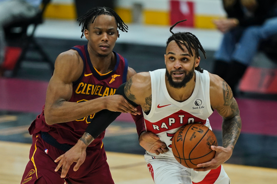 Gary Trent Jr. was an absolute menace as he dropped a career-high 44 points in Toronto's blowout win over Cleveland. (Getty)