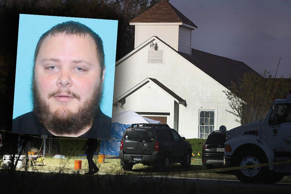 Devin Patrick Kelley shot and killed 26 people and wounded 20 others last week at First Baptist Church in Sutherland Springs, Texas. He was later found dead of a self-inflicted gunshot wound. (Photo: HuffPost/Reuters/Getty)